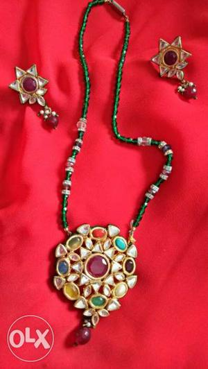 Kundan set hand made for any occasion