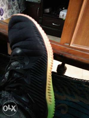 Paired Black Athletic Shoe
