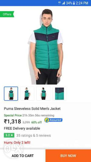 Puma sleeveless new jackets eith tag flipkart