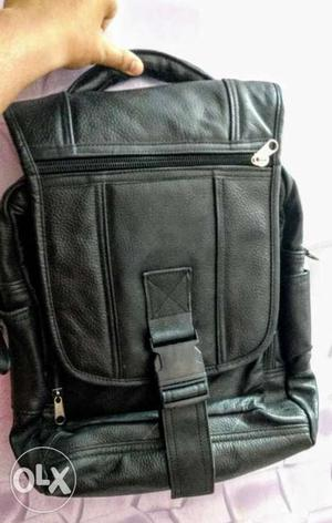 Urgent Sale! Black Laptop Leather Bag