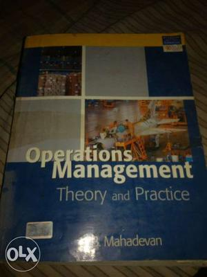Operations Management Theory And Practice Textbook