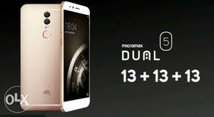 15 days old Micromax Dual 5. Used only for 3