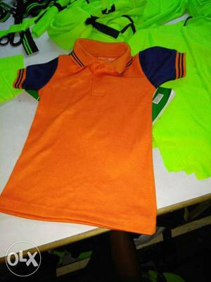 Blue And Orange Polo Shirt