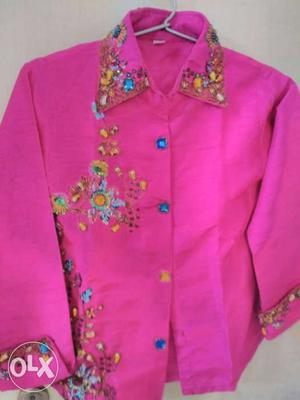 Embroidery pink top n black pant for age 3-5 yrs