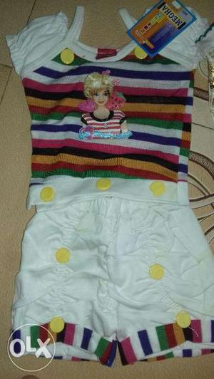 New brand littile short for girls with many