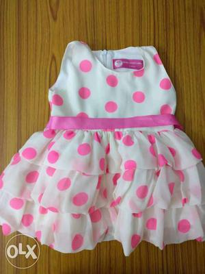 Queen Anne label pink polka dot dress for upto 2