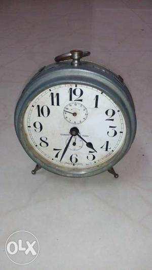 Antique serviced alarm clock keywinding