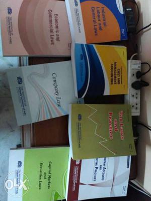 Complete new set of company secretary inter books.