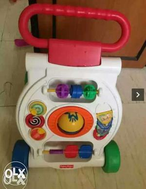 White And Red Fisher Price Learning Walker