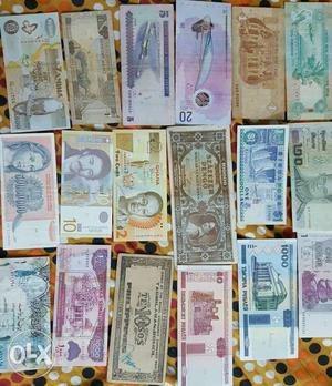 World currency notes for sales or swap. includes