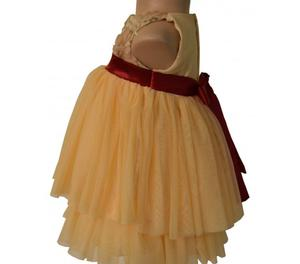 Gold Tiered Kids Party Dress At Faye Bangalore