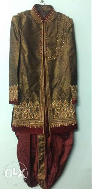 Indo western for men for a wedding, worn once,