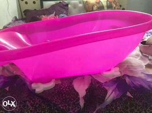 Baby's Pink Plastic Bather Plz read all details first