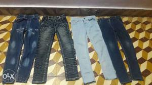 Hurry 4 fashionable jeans grab the opportunity (7 to 8) yrs
