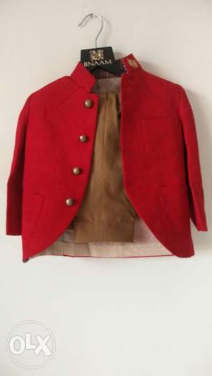Kids designer indo western suit - 1.5-2 years -