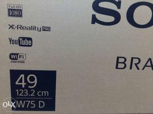 New Sony smart LED TV with bill 49 inches in