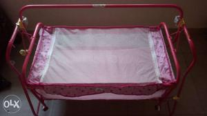 Baby pink new cradle for sale..in very good