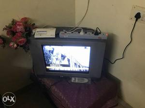 CRT Colour Television. picture and sound in