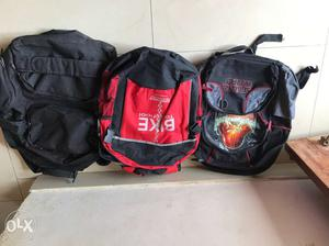 Three Children's Assorted Color Backpacks