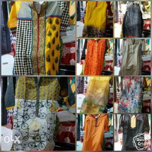 Assorted Color kurti Minimum 100 pis get rs 550 per pis