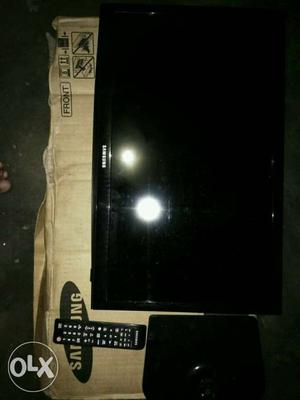 Black Samsung Flat Screem TV With Remote Controller And Box