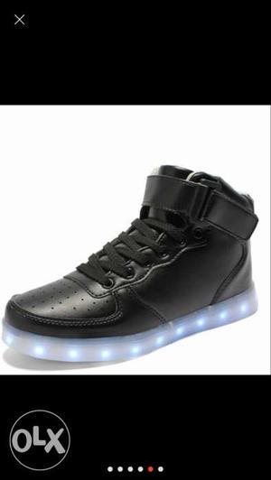 Brand New Lighting Led Shoes Black Colour For