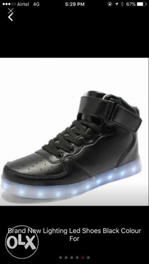 Brand New Unused Led Light Black Shoes For Sale