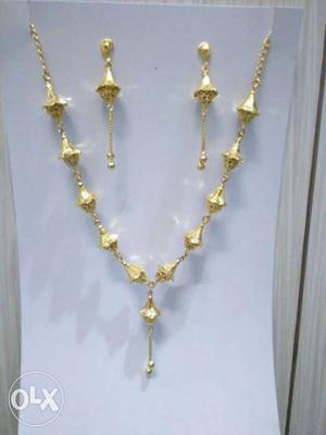High Polished Gold Pleated Imitations Jewellery