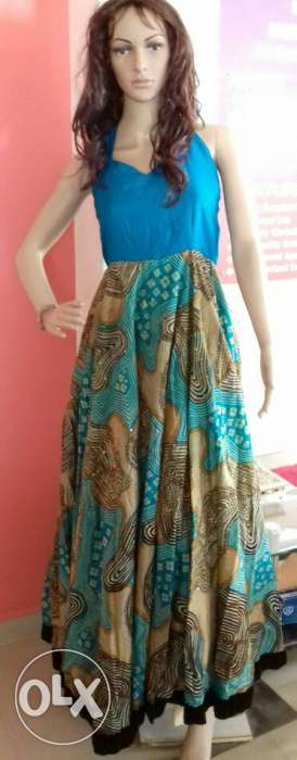 Party wear backless maxi dress (unused)