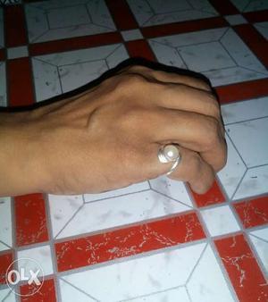 Pure silver pearl ring in unique design