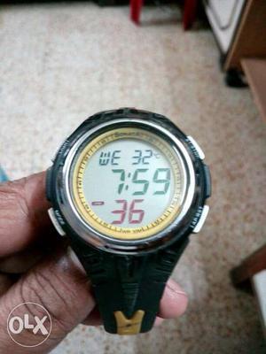 Sonata Digital Watch With Room Temperature