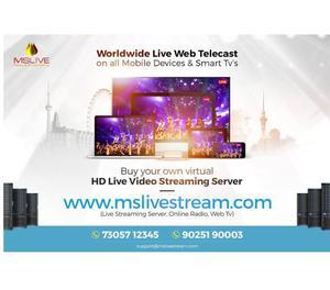 Live Streaming Mysore, web casting services kerala Chennai