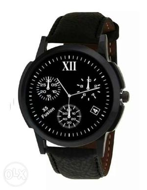 New Black colour Wrist Watch for men. (Not used)