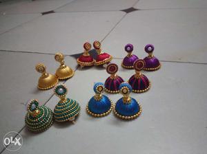 Set of 6 pairs of ear rings