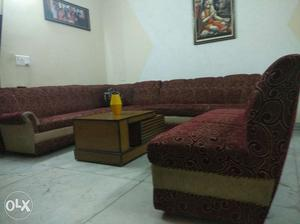 3 pc 3 seater 2 pc and 4 seater 1 pc with corner