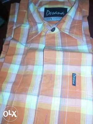 7 pcs new branded cotton shirts at 700 rs.