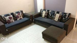 Premium Sofa set home made 3 + 2 + 1 with corner table