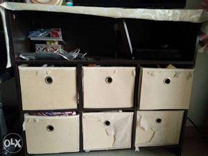 Tv Unit or Shoe rack with 6 storage box