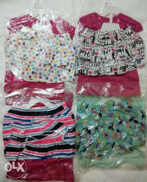 Kids Top with Skirt Inner Shorts Attached Export Lot Set of