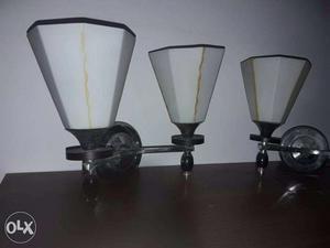 3 Design Glass Light Shades (Double & Single)
