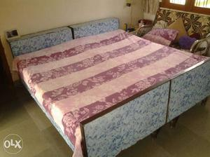 6x3 beds with box. 2 beds very good quality wood