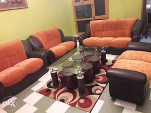 9 seater sofa set with centre table plus 6 small