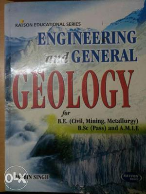 Engineering And General Geology Book