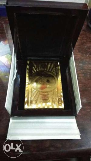 Gold Plated Playing Cards in Glossy Box