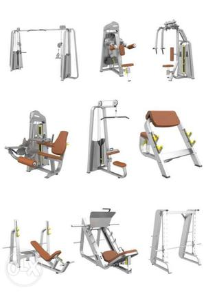 Imported Gym Set up, Complete Strength training Equipments