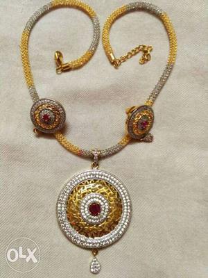 American Diamond Pendant set with spring Diamond
