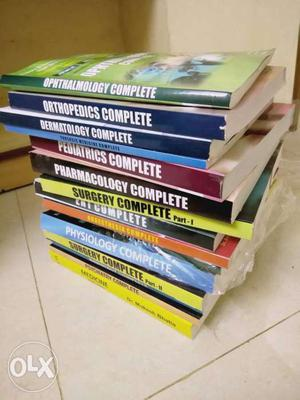 Complete package of Pg entrance exam books available for