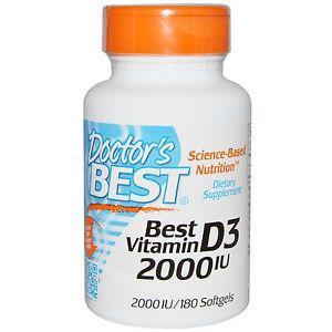 Doctor's Best, Best Vitamin D IU, 180 Softgels