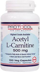Protocol For Life Balance - Acetyl-L-Carni tine 500 mg -