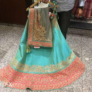 Raw silk lehenga bought from an exclusive store